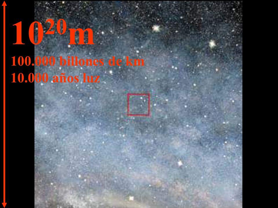 10 21 m 1 trillón de km 100.000 años luz