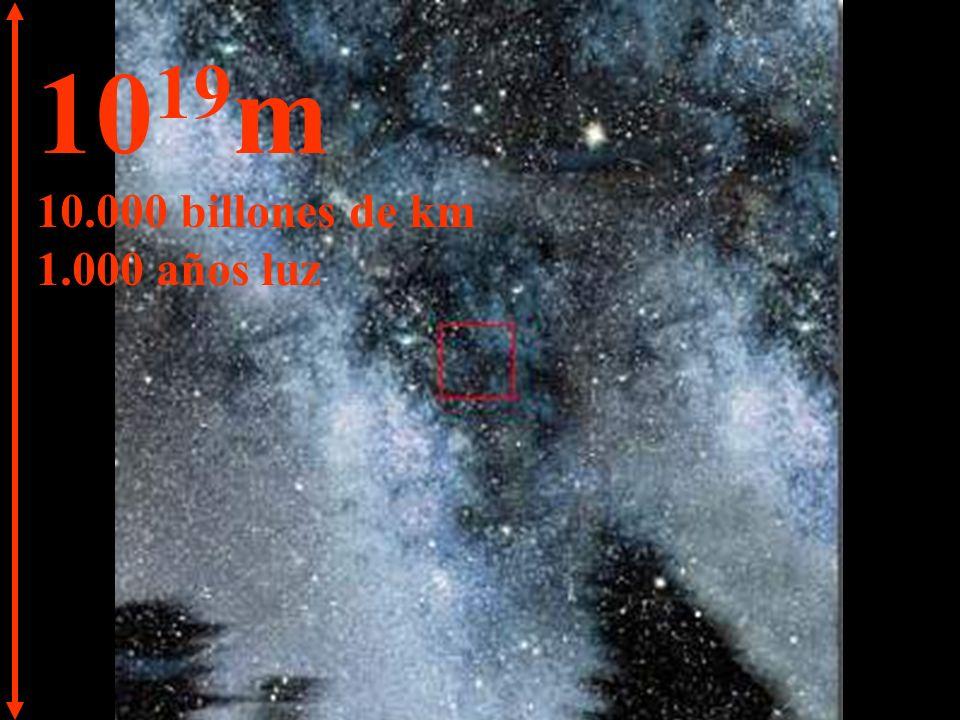 10 20 m 100.000 billones de km 10.000 años luz