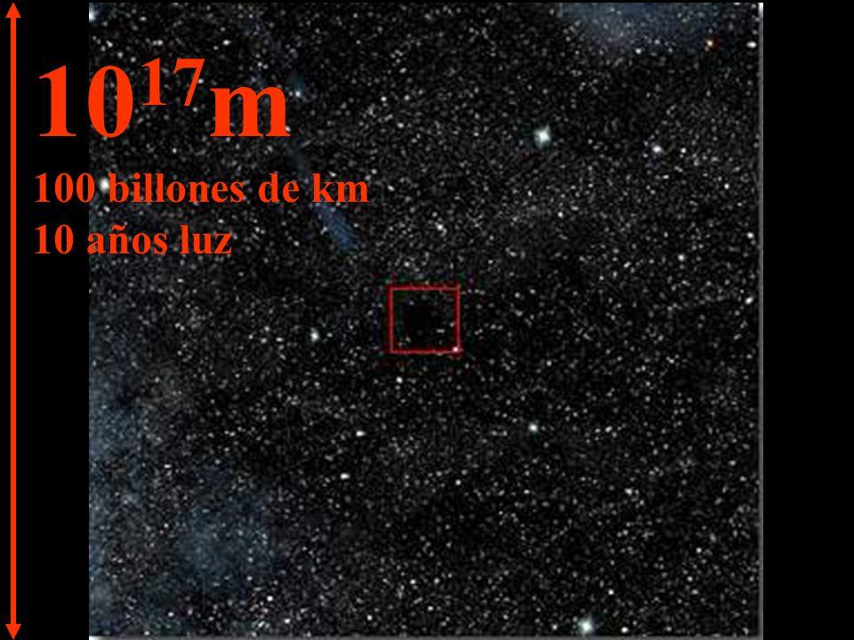 10 18 m 1.000 billones de km 100 años luz