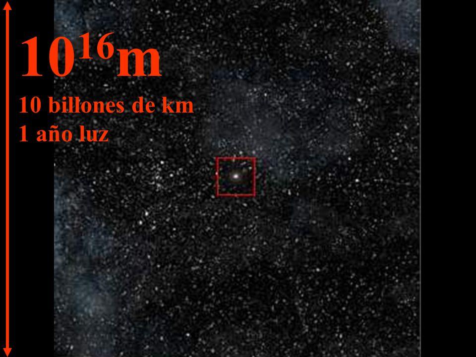 10 17 m 100 billones de km 10 años luz