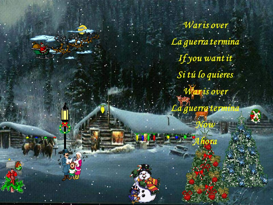 A very Merry Christmas Una muy feliz Navidad And Happy New Year Y un feliz Año Nuevo Let s hope it s a good one Esperamos que sea bueno Without any fear Sin ningún temor