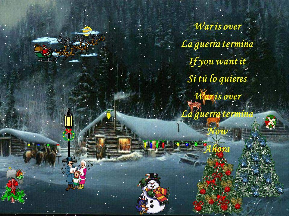 A very Merry Christmas Una muy feliz Navidad And Happy New Year Y un feliz Año Nuevo Let's hope it's a good one Esperamos que sea bueno Without any fe