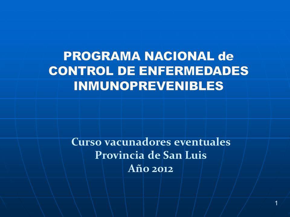 1 Curso vacunadores eventuales Provincia de San Luis Año 2012
