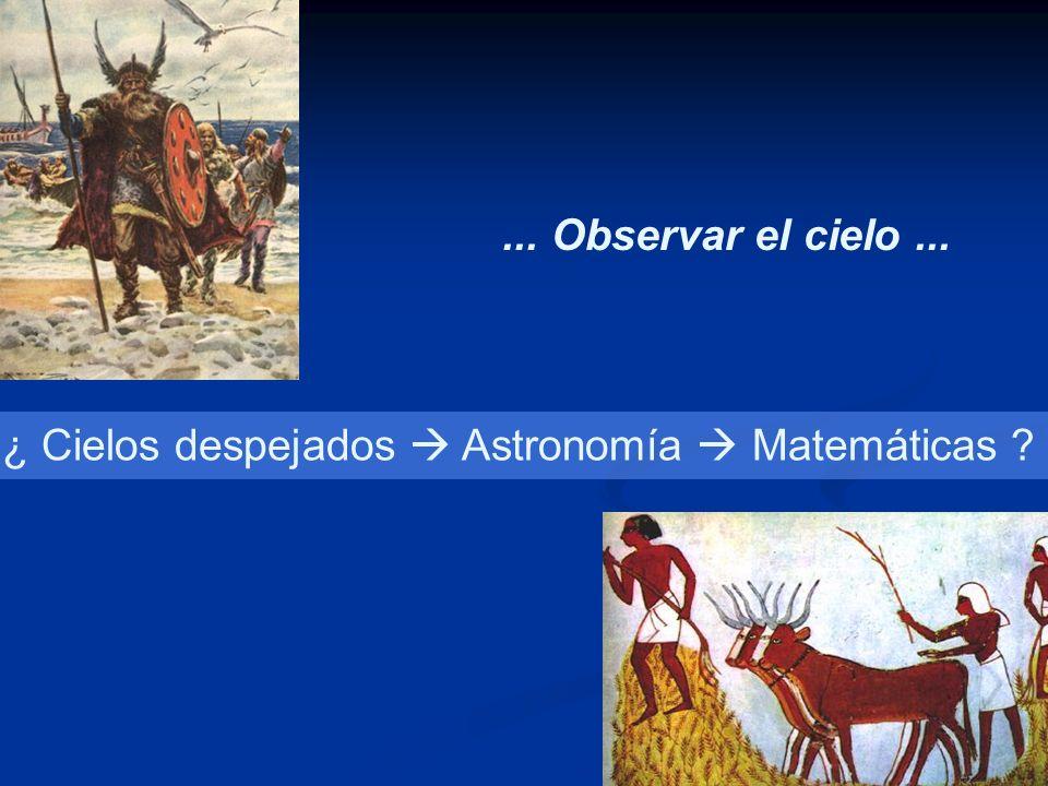 ... Observar el cielo... ¿ Cielos despejados Astronomía Matemáticas ?