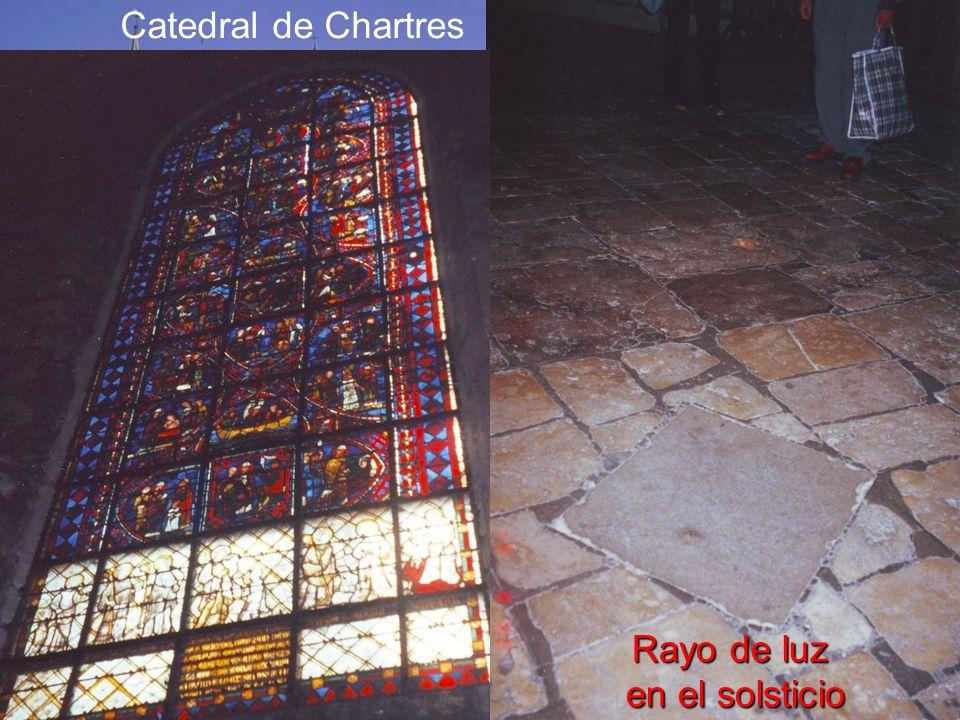 Catedral de Chartres Rayo de luz en el solsticio
