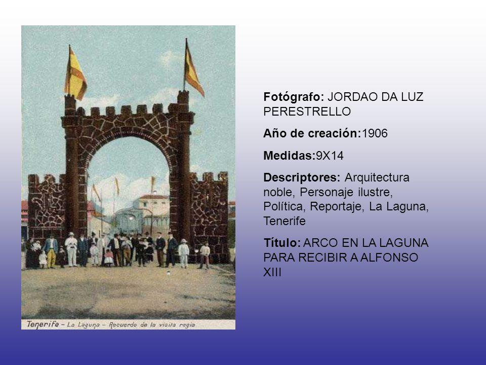 Fotógrafo: JORDAO DA LUZ PERESTRELLO Año de creación:1906 Medidas:9X14 Descriptores: Arquitectura noble, Personaje ilustre, Política, Reportaje, La La