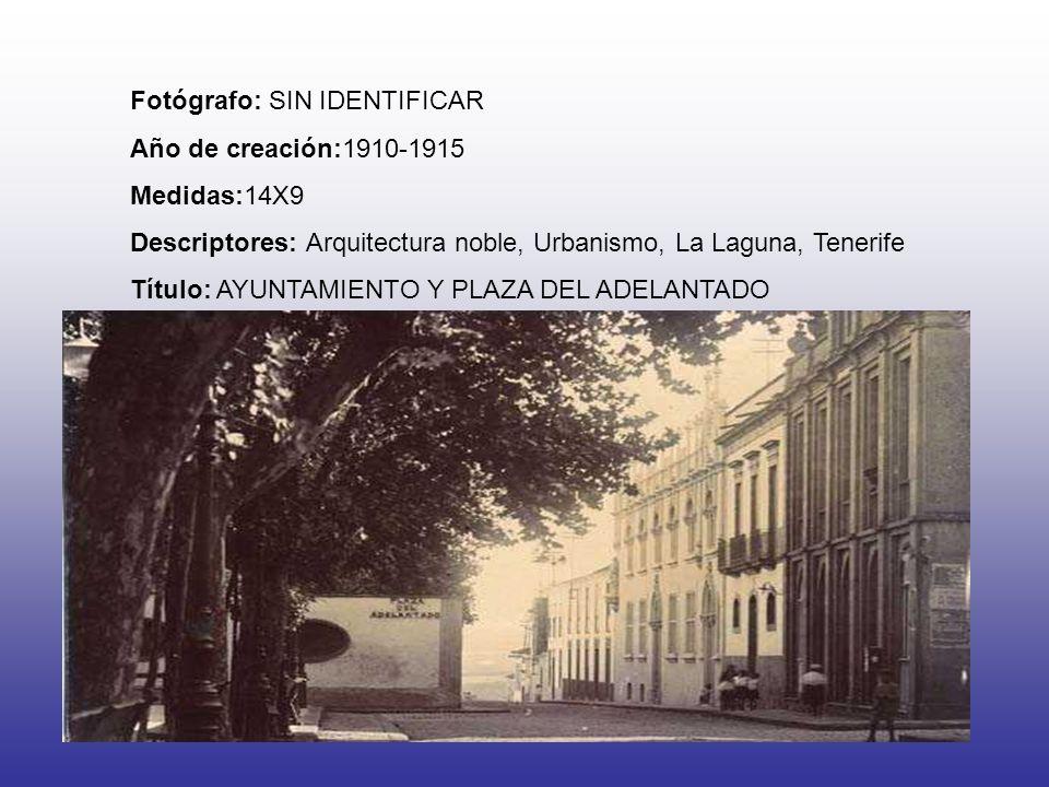 Fotógrafo: SIN IDENTIFICAR Año de creación:1910-1915 Medidas:14X9 Descriptores: Arquitectura noble, Urbanismo, La Laguna, Tenerife Título: AYUNTAMIENT