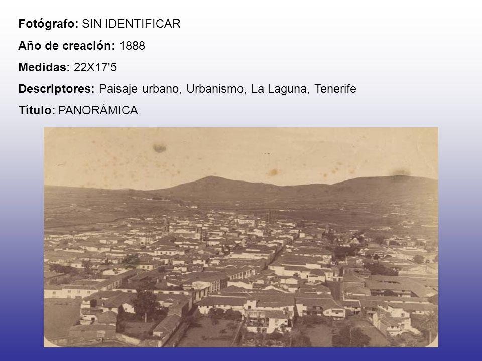 Fotógrafo: SIN IDENTIFICAR Año de creación: 1888 Medidas: 22X17'5 Descriptores: Paisaje urbano, Urbanismo, La Laguna, Tenerife Título: PANORÁMICA