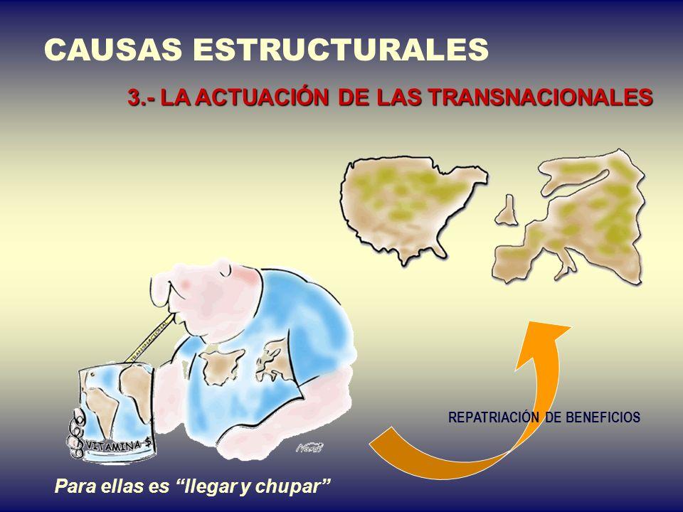 La RRI es negativa para los PVD CAUSAS ESTRUCTURALES 2.- EL COMERCIO DESIGUAL Lempiras para comprar un… fechaDólar USEuro 2-12-0418,0924,1 2-12-0317,1