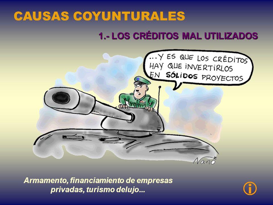 País industrializado PVD créditocompra CAUSAS ESTRUCTURALES 6.- LA POLíTICA DE CRÉDITOS A LA EXPORTACIÓN
