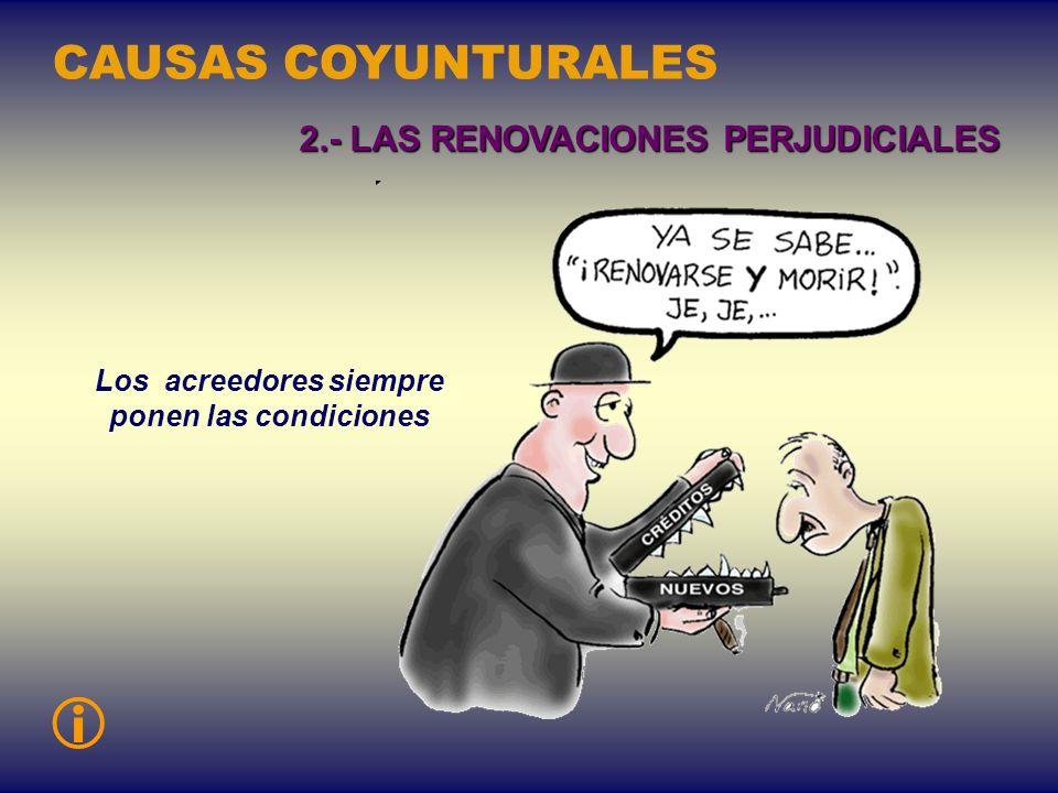Armamento, financiamiento de empresas privadas, turismo delujo... CAUSAS COYUNTURALES 1.- LOS CRÉDITOS MAL UTILIZADOS