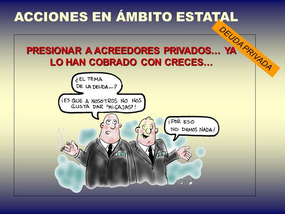ACCIONES EN ÁMBITO ESTATAL Presión para evitar los PARAÍSOS FISCALES DEUDA PÚBLICA Exigir transparencia informativa ¿cuántos gobernantes tienen fondos