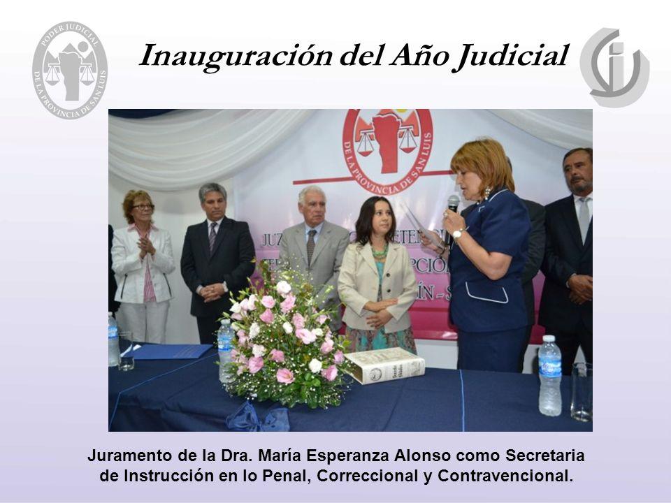 Inauguración del Año Judicial Juramento de la Dra.
