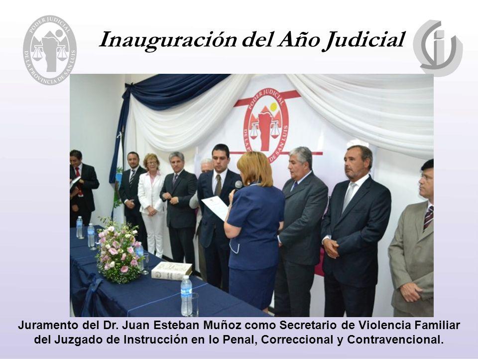 Inauguración del Año Judicial Juramento del Dr.