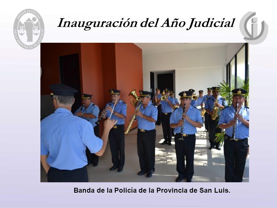Inauguración del Año Judicial Banda de la Policía de la Provincia de San Luis.