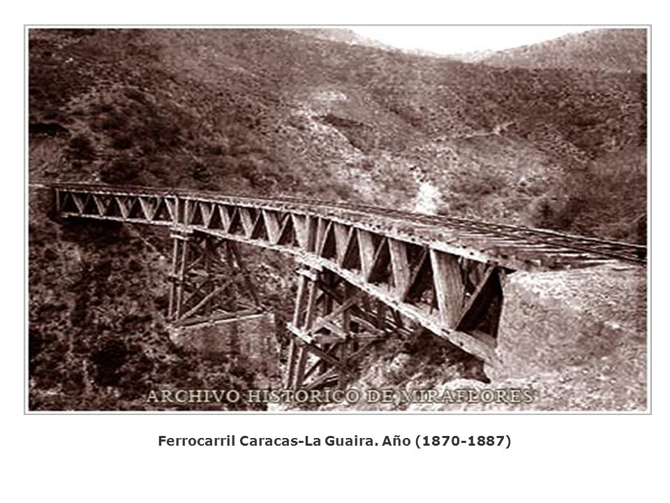 Ferrocarril Caracas-La Guaira. Año (1870-1887)