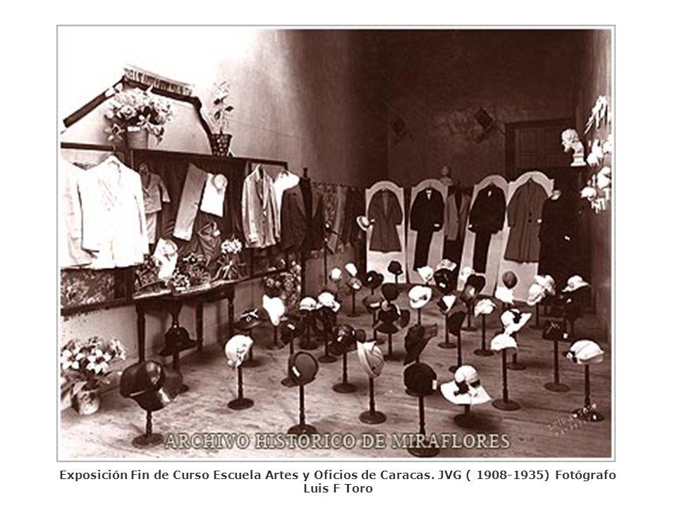 Exposición Fin de Curso Escuela Artes y Oficios de Caracas. JVG ( 1908-1935) Fotógrafo Luis F Toro