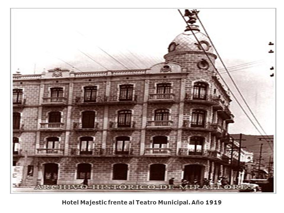 Postal vista de Miraflores. Año 1920