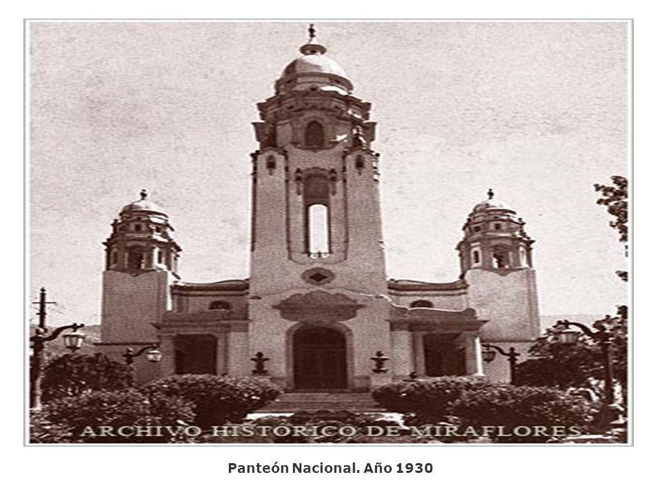 Panteón Nacional. Año 1930