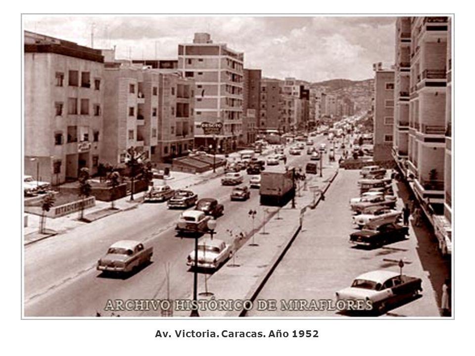 Av. Victoria. Caracas. Año 1952