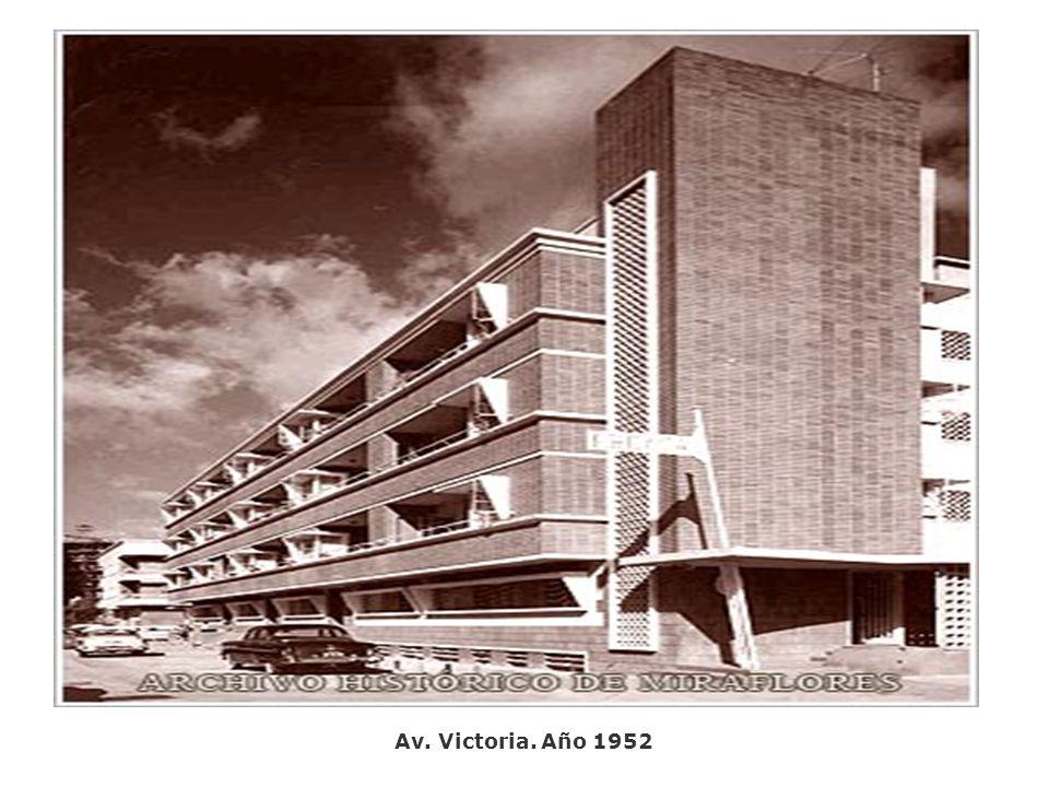Av. Victoria. Año 1952
