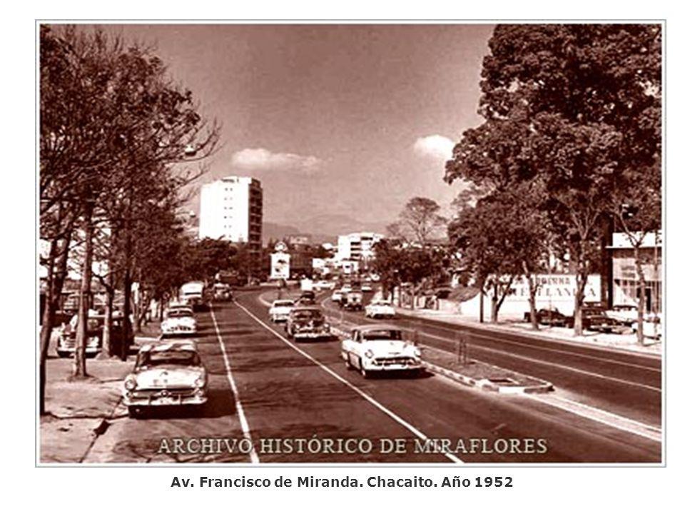 Av. Francisco de Miranda. Chacaito. Año 1952