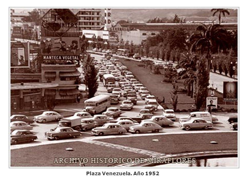 Plaza Venezuela. Año 1952