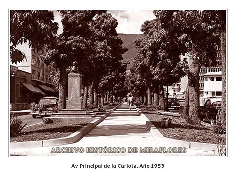 Plaza Venezuela. Año 1953