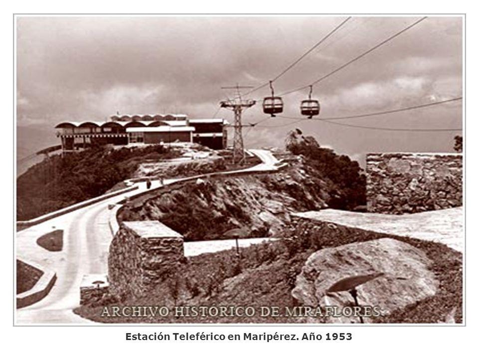 Estación Teleférico en Maripérez. Año 1953