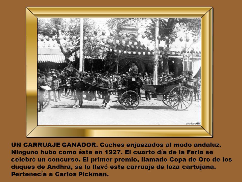 EL ORIGEN DE LA PORTADA. Hasta 1949, poco m á s de un siglo despu é s de su inauguraci ó n, la Feria de Sevilla no tuvo Portada. Otra tradici ó n mode