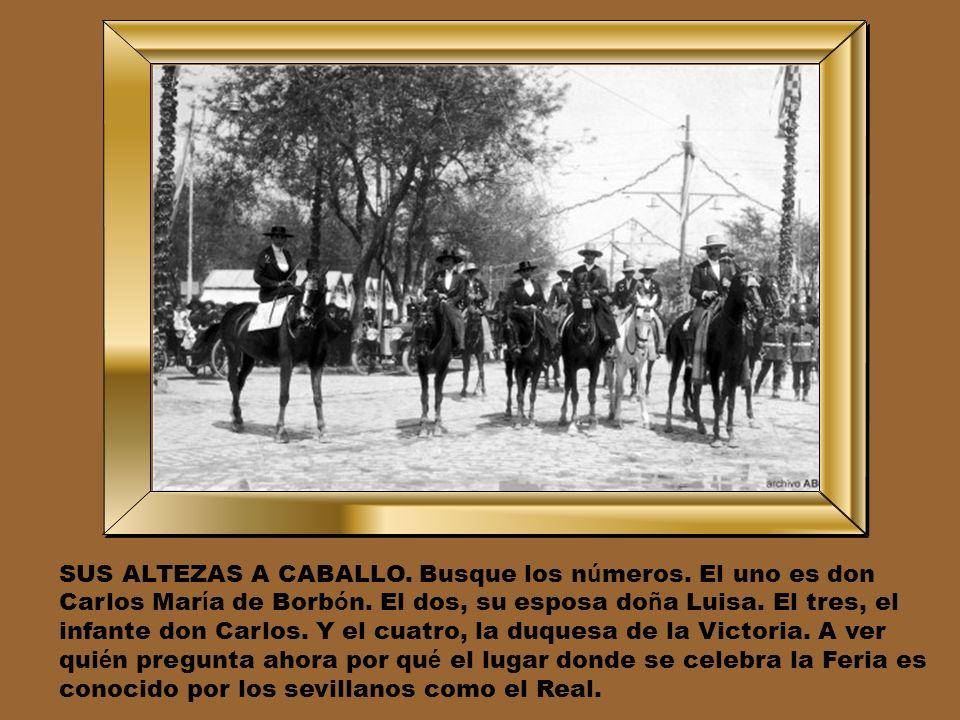 LA SEVILLA DE LA PANDERETA. En 1912, la Caseta de la Asociaci ó n de la Prensa, que por entonces ten í a en la ciudad a representantes como Chaves Nog