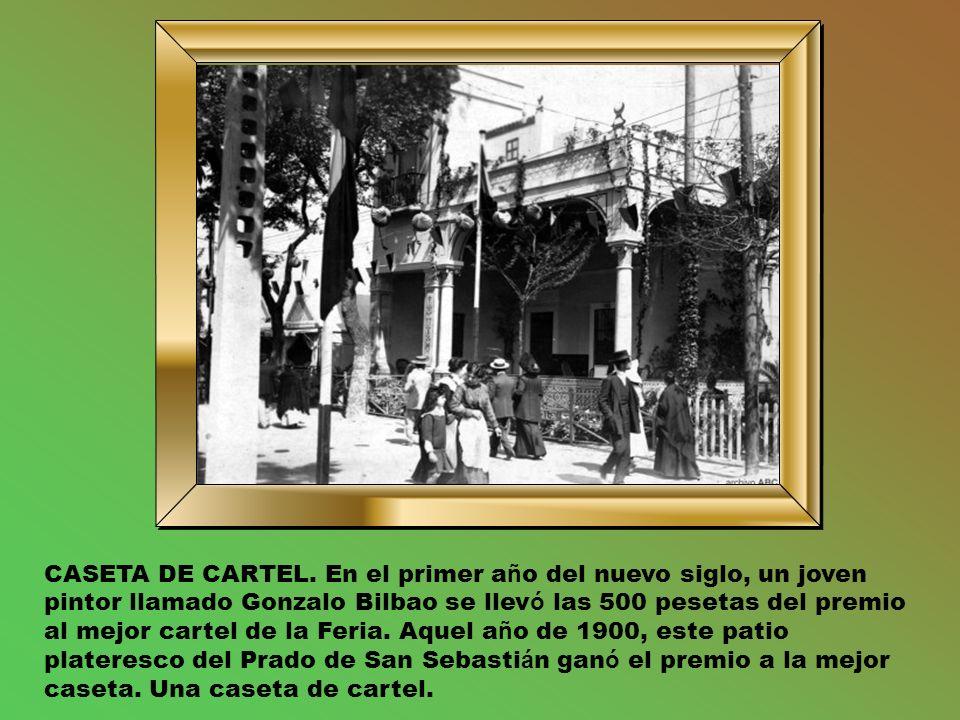 LA FERIA DE NOCHE.La foto es de 1928. Las luces son de gas.