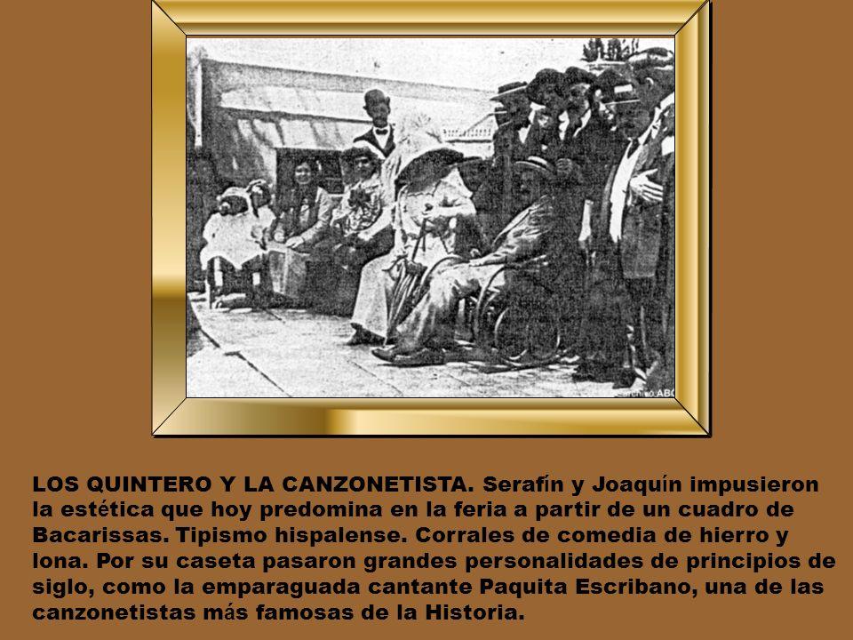 A LO Á RABE. Al principio, la Feria se constru í a nueva cada a ñ o. En 1904, la Caseta del C í rculo Mercantil se levant ó siguiendo el estilo arquit