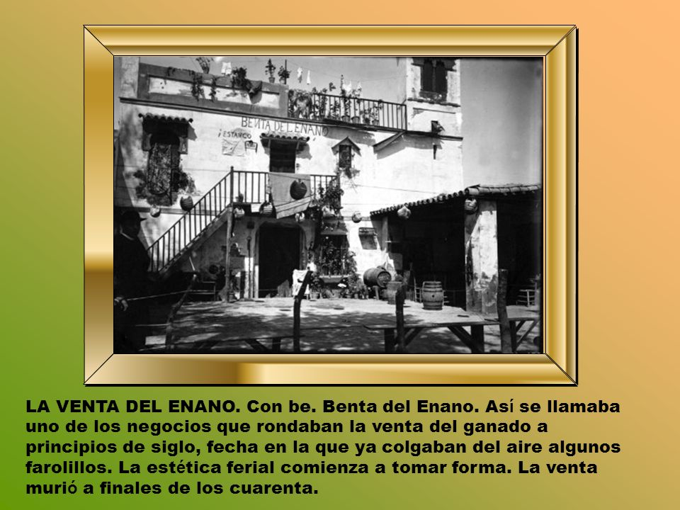 LA VENTA DEL ENANO.Con be. Benta del Enano.