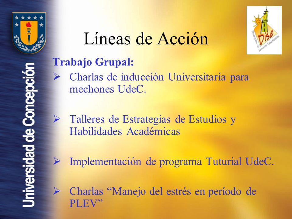 Trabajo Grupal: Charlas de inducción Universitaria para mechones UdeC.