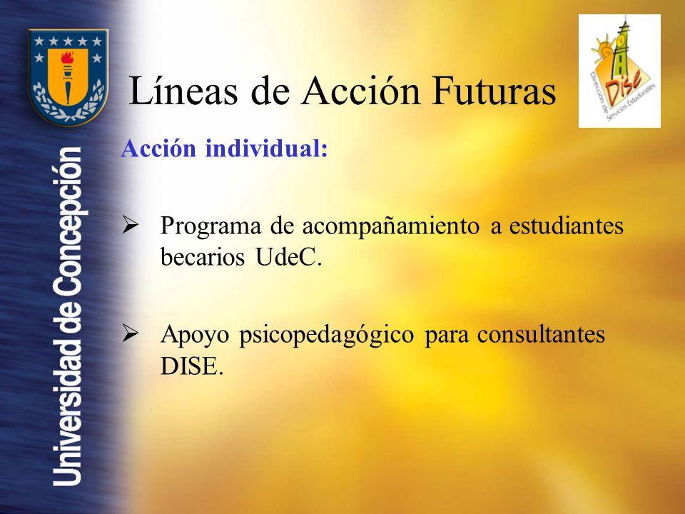 Acción individual: Programa de acompañamiento a estudiantes becarios UdeC.