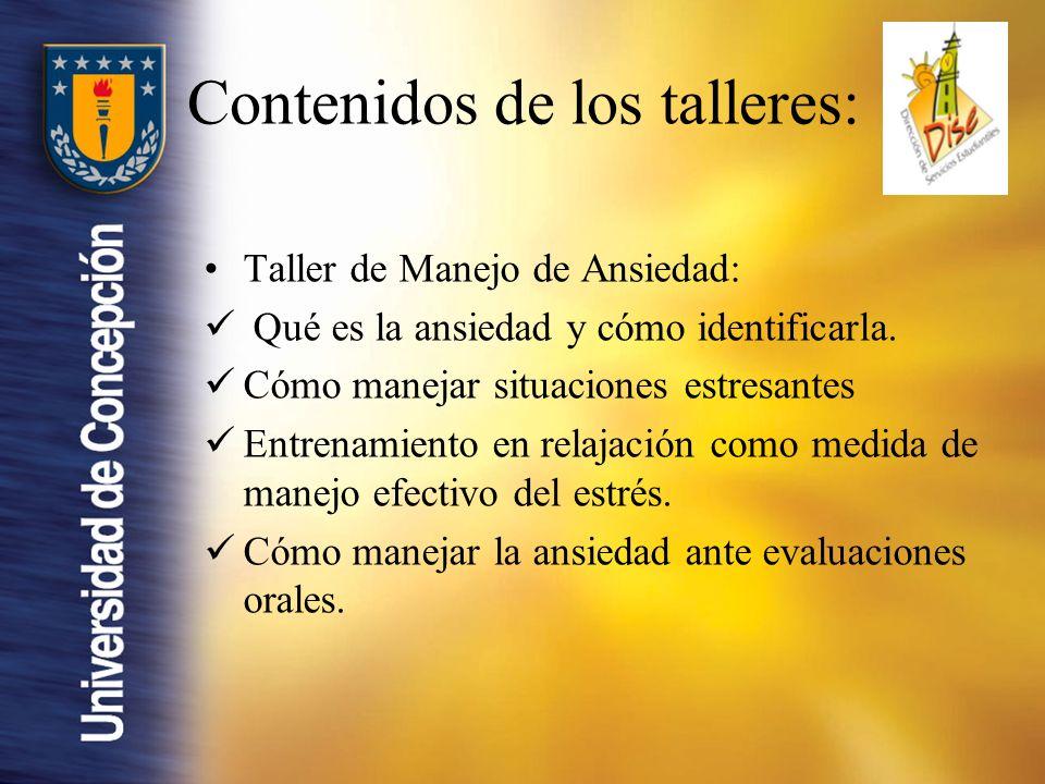 Taller de Manejo de Ansiedad: Qué es la ansiedad y cómo identificarla.