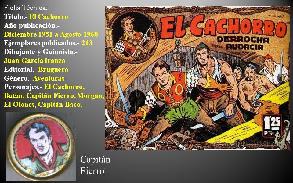 Miguel Díaz Olmedo, nombre verdadero de El Cachorro , es el grumete de un galeón español que surcaba las aguas del Atlántico en el siglo XVIII, y al ser atacada por una nave filibustera, se convierte en el terror de los feroces piratas del Caribe, en una lucha sin tregua.