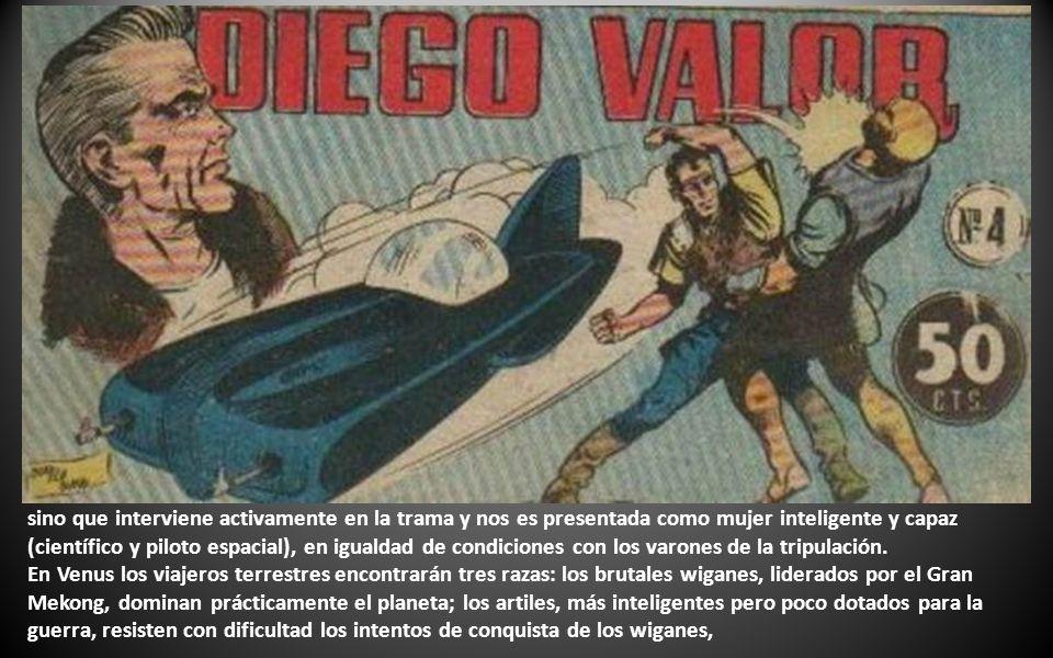 Diego Valor era un español nacido en el año 2000, héroe admirado por toda la humanidad, emprende viaje a Venus.