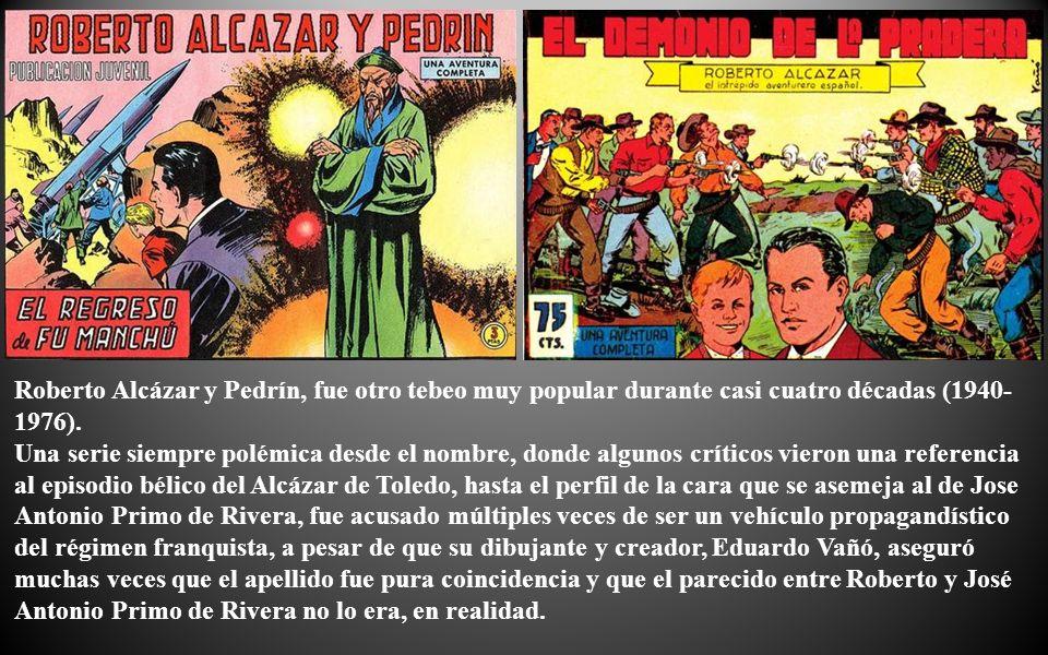 Ficha Técnica: Título.- Roberto Alcázar y Pedrín Editorial.- Valenciana Año de publicación.- 1.940 Ejemplares publicados.- 1.219 y 33 almanaques.