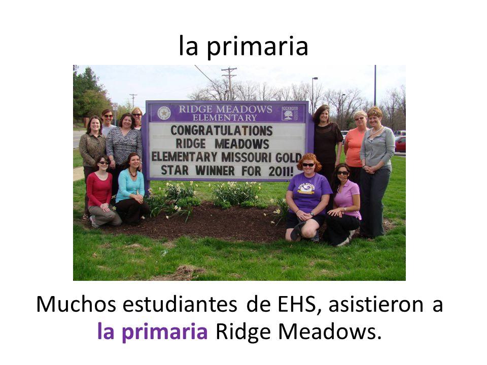 la primaria Muchos estudiantes de EHS, asistieron a la primaria Ridge Meadows.