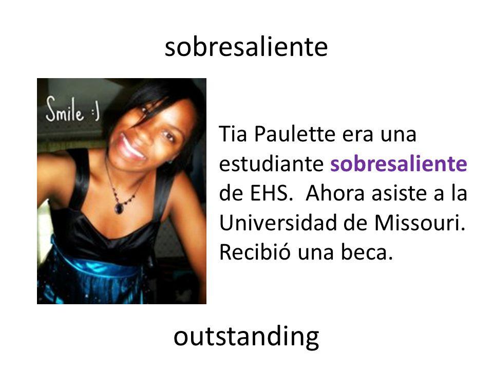 sobresaliente Tia Paulette era una estudiante sobresaliente de EHS.