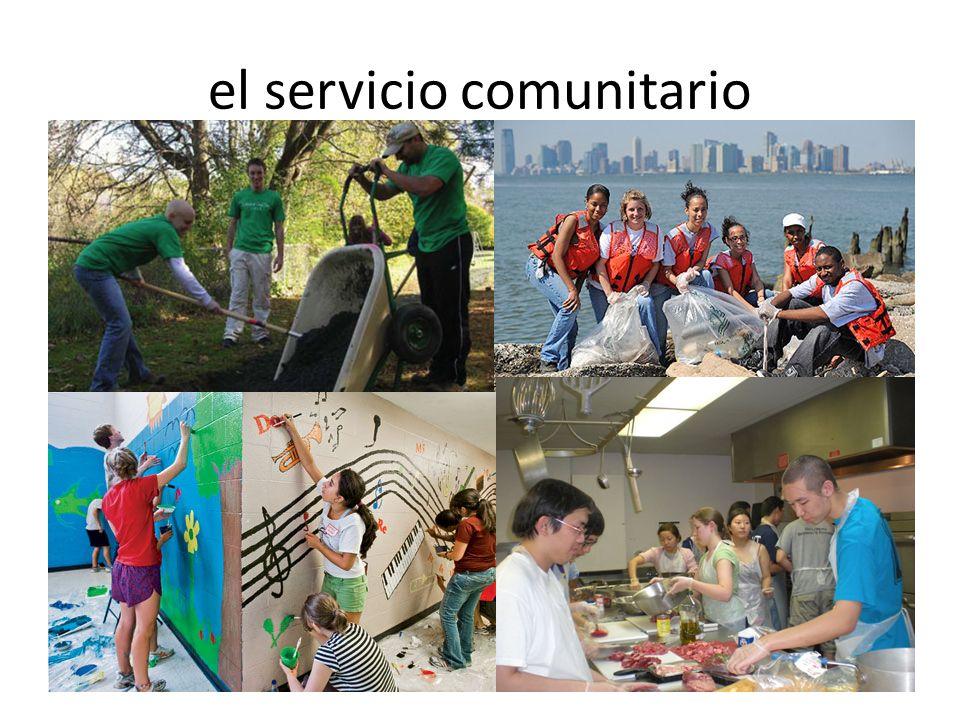 el servicio comunitario