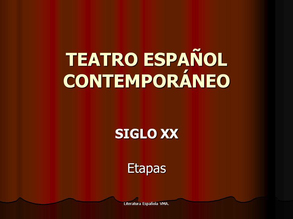 Literatura Española VMA. TEATRO ESPAÑOL CONTEMPORÁNEO SIGLO XX Etapas