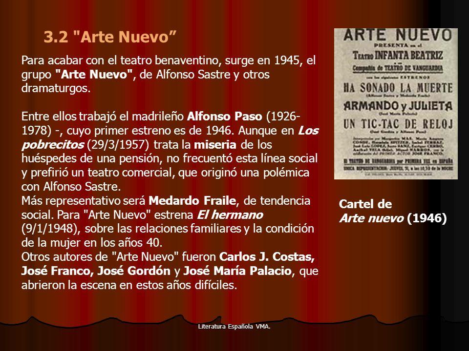 Literatura Española VMA. Para acabar con el teatro benaventino, surge en 1945, el grupo