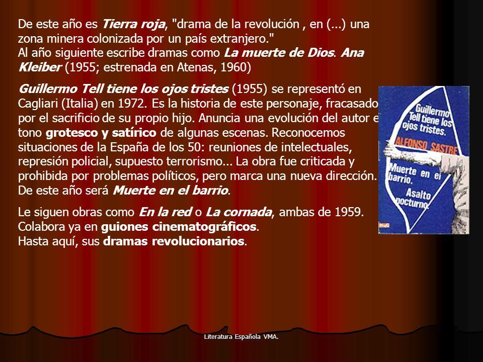 Literatura Española VMA. De este año es Tierra roja,