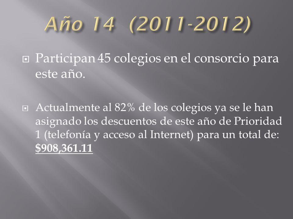 Participan 45 colegios en el consorcio para este año.