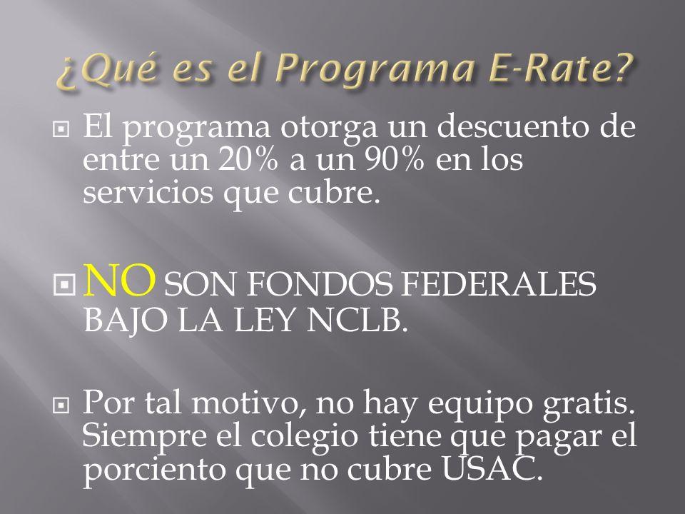 El programa otorga un descuento de entre un 20% a un 90% en los servicios que cubre.