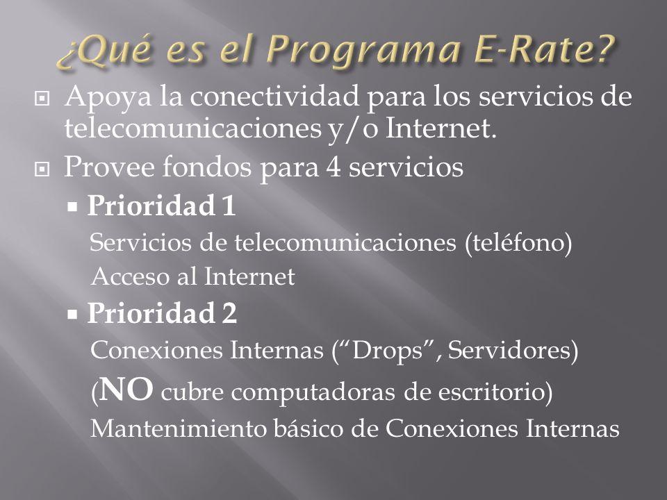 Apoya la conectividad para los servicios de telecomunicaciones y/o Internet.