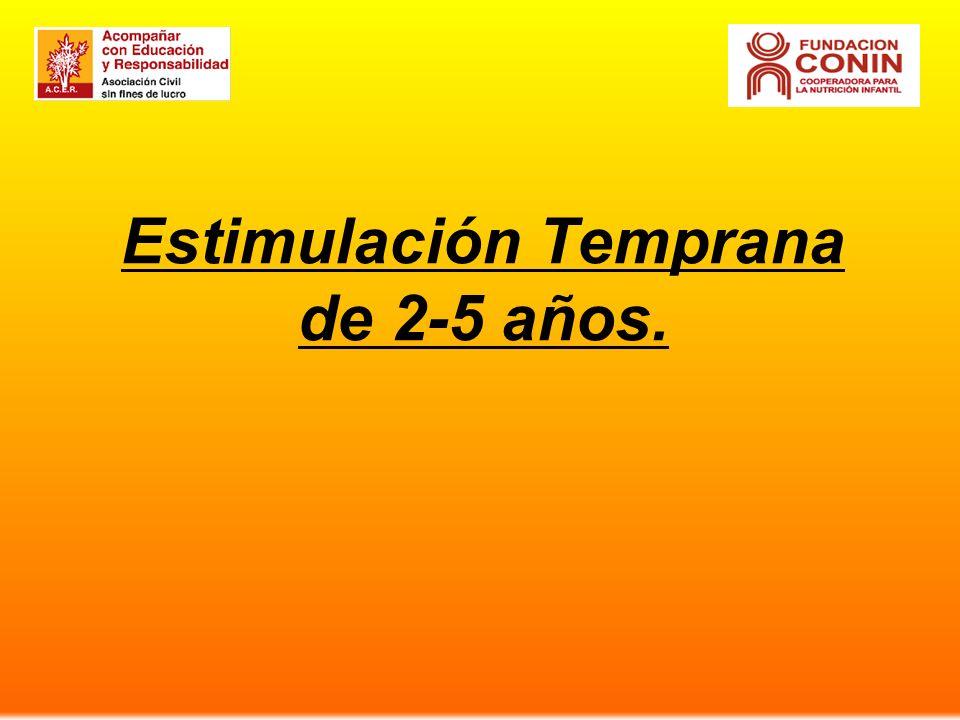 Estimulación Temprana de 2-5 años.